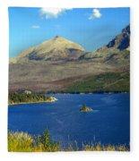 St. Mary's Lake 1 Fleece Blanket