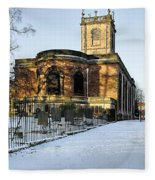 St Modwen's Church - Burton - In The Snow Fleece Blanket