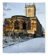 St Modwen's Church - Burton - In The Snow Fleece Blanket