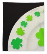 St. Patrick's Day Plate Fleece Blanket