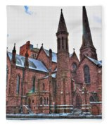 St. Paul S Episcopal Cathedral Fleece Blanket