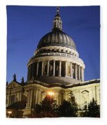 St Pauls Cathedral At Dusk, Exterior Fleece Blanket