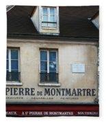 St Pierre De Montmartre Paris Scene Fleece Blanket