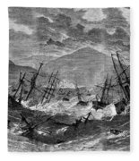 St. Thomas: Hurricane, 1867 Fleece Blanket