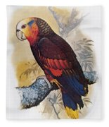 St Vincent Amazon Parrot Fleece Blanket