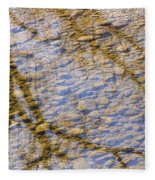 St Vrain River Reflection Fleece Blanket