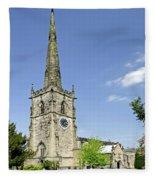 St Wystan's Church - Repton Fleece Blanket