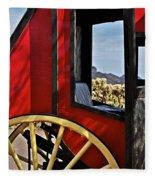 Stagecoach View Fleece Blanket