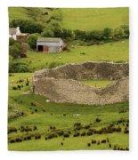 Staigue Fort, Kerry Fleece Blanket