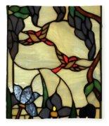 Stained Glass Humming Bird Vertical Window Fleece Blanket