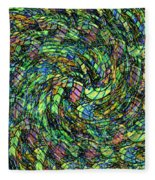 Stained Glass In Abstract Fleece Blanket