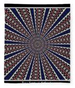 Stained Glass Kaleidoscope 49 Fleece Blanket
