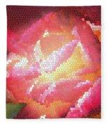 Stained Glass Rose Fleece Blanket
