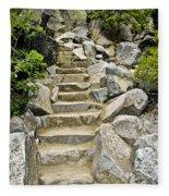 Staircase To Eagle Falls Lake Tahoe Fleece Blanket