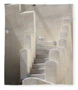 Stairs In Greece Fleece Blanket