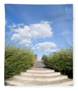 Stairs To The Big Blue Sky Fleece Blanket