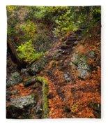 Stairway To The Sky Fleece Blanket