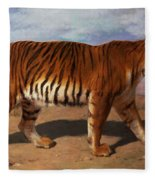 Stalking Tiger Fleece Blanket