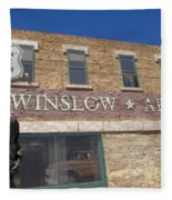 Standin On The Corner In Winslow Arizona Fleece Blanket