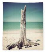 Standing Alone-vintage Fleece Blanket