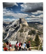 Standing In Awe Fleece Blanket