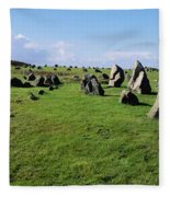 Standing Stones On A Landscape Fleece Blanket