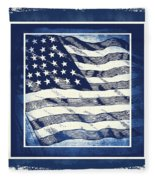 Star Spangled Banner Blue Fleece Blanket