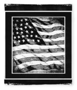 Star Spangled Banner Bw Fleece Blanket