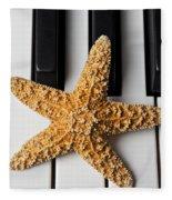Starfish Piano Fleece Blanket