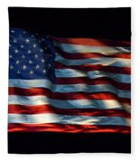 Stars And Stripes At Night Fleece Blanket