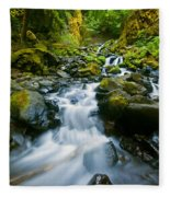 Starvation Creek Falls Fleece Blanket