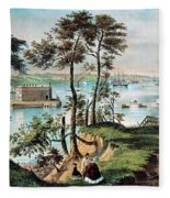 Staten Island And The Narrows, 20th Fleece Blanket