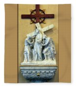Station Of The Cross 02 Fleece Blanket