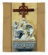 Station Of The Cross 03 Fleece Blanket