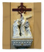 Station Of The Cross 04 Fleece Blanket