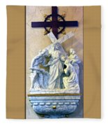 Station Of The Cross 08 Fleece Blanket