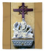 Station Of The Cross 09 Fleece Blanket