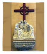 Station Of The Cross 14 Fleece Blanket