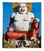 Statue Of Shiva Fleece Blanket