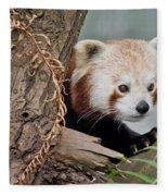 Stealthy Red Panda Fleece Blanket