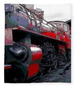 Steam Punk Railroad Fleece Blanket