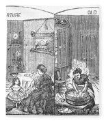 Steam Washer, 1872 Fleece Blanket