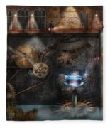 Steampunk - Industrial Society Fleece Blanket
