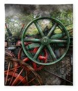Steampunk - Machine - Transportation Of The Future Fleece Blanket
