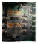 Steampunk - Naval - Electric - Lighting Control Panel Fleece Blanket