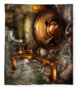 Steampunk - Naval - Shut The Valve  Fleece Blanket
