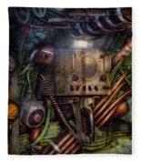 Steampunk - Naval - The Comm Station Fleece Blanket