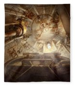 Steampunk - Naval - The Escape Hatch Fleece Blanket