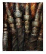 Steampunk - Pipes Fleece Blanket