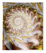 Steampunk - Spiral - Time Iris Fleece Blanket